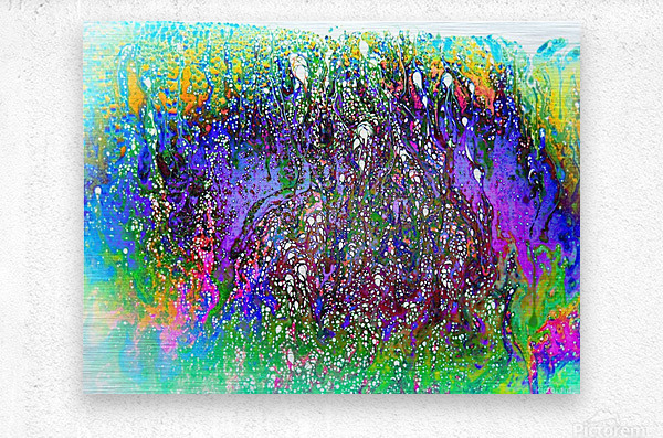 Bubbles Reimagined 61  Metal print