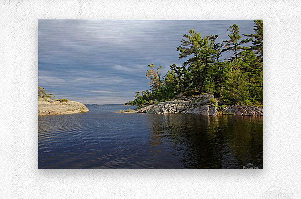 Between Rocky Outcrops To Georgian Bay  Metal print