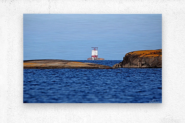 Red Rock Lighthouse Georgian Bay  Metal print