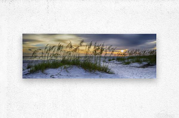Sunset over Holmes Beach  Metal print