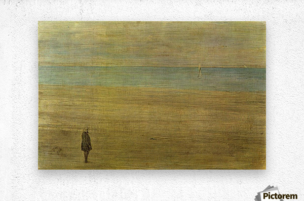 Harmony in blue and silver Trouville by Whistler  Metal print