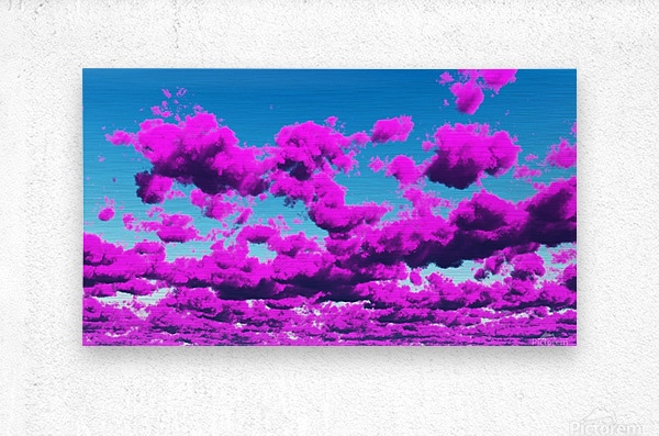 Vivid Purple Cloudscape  Metal print