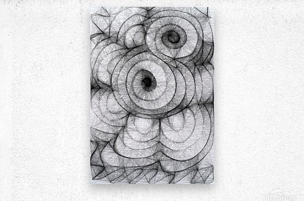 Circled in infiniti  Metal print