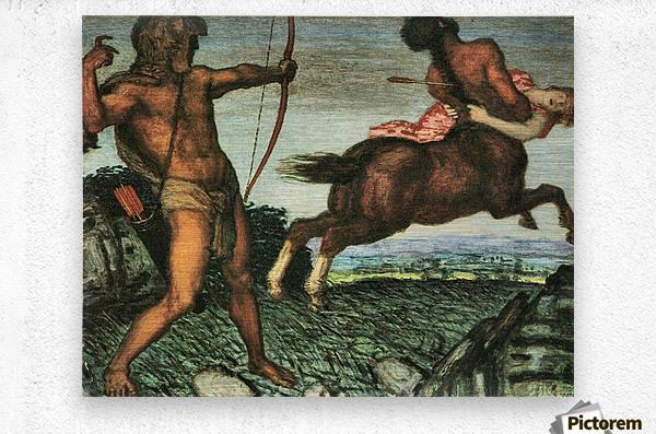 Hercules and Nessus by Franz von Stuck  Metal print