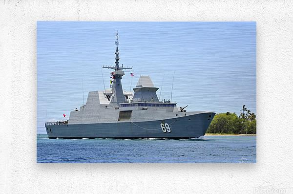 The Singapore frigate RSS Intrepid.  Metal print