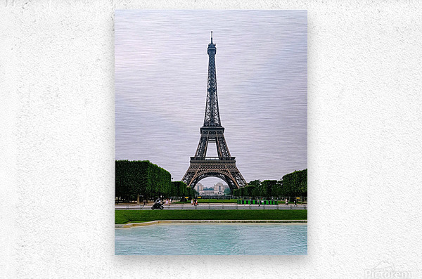 Eiffel from a distance  Metal print