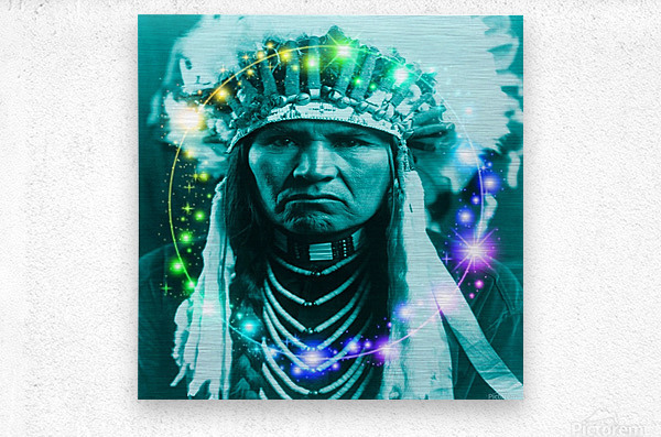 Magical Indian Chief  Metal print