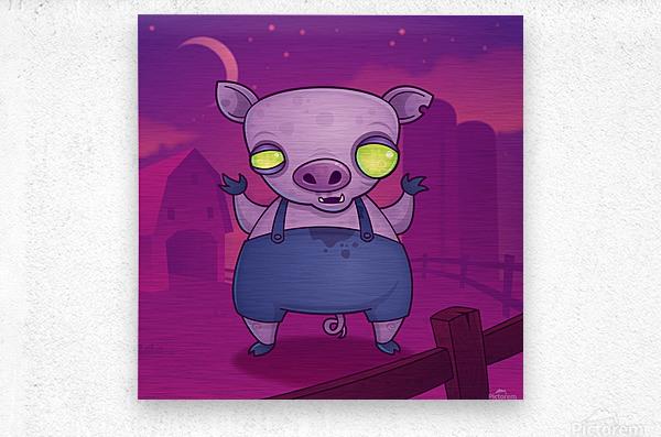 Zombie Pig  Metal print