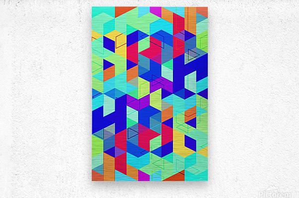 Vivid Pattern II  Metal print