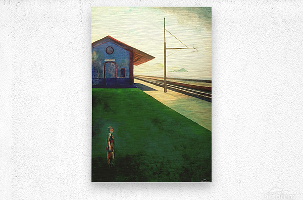 Lavagna railway station  Metal print