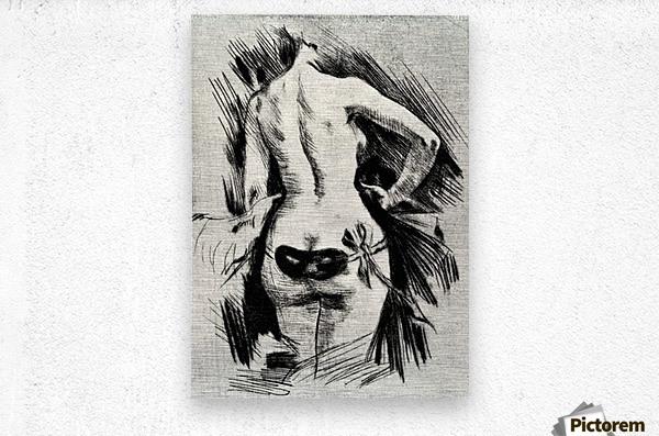 Hypocracy by Felicien Rops  Metal print