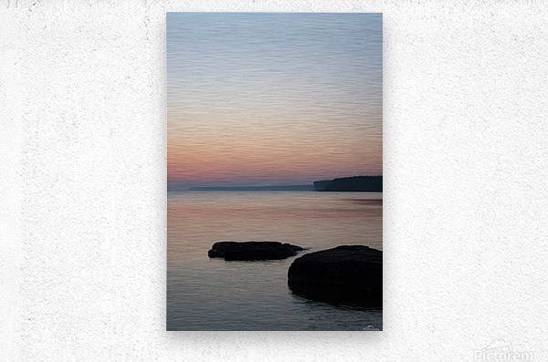 Huron Sunrise 2  Metal print