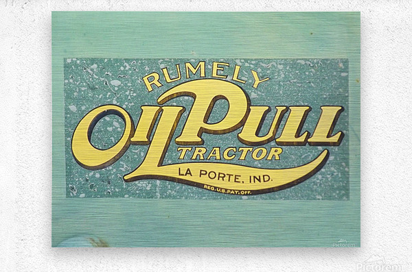Rumely Tractor Oil Pull Sign  Metal print