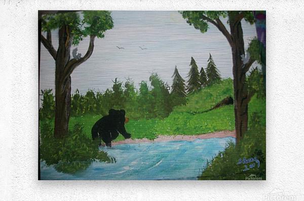 Bear territory   Metal print