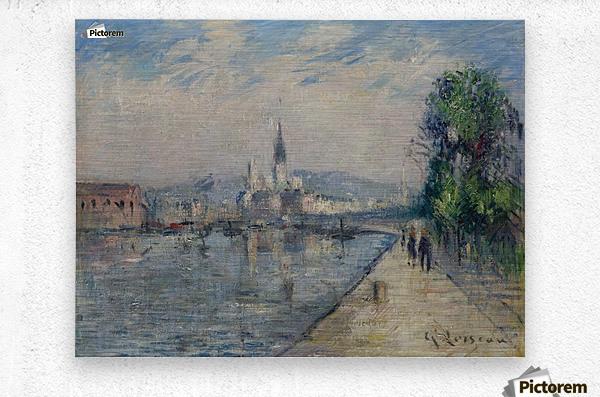Rouen, Banks of the Seine  Metal print