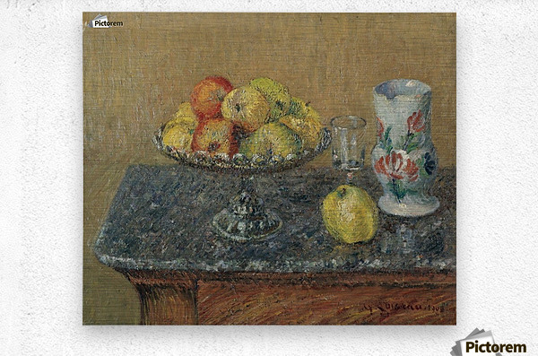 Fruit Bowl with Apples and a Jug  Metal print