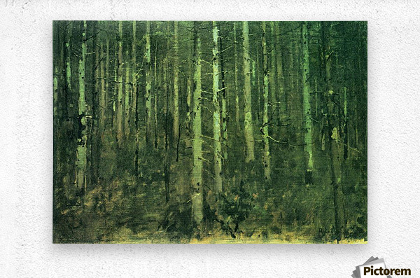 In the forest by Albin Egger-Lienz  Metal print