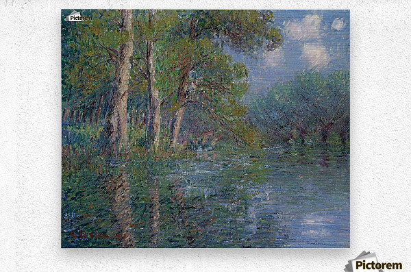 The Bend of the Eure  Metal print