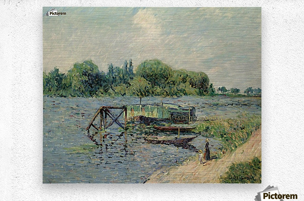 Laun Place on the Seine at Herblay  Metal print