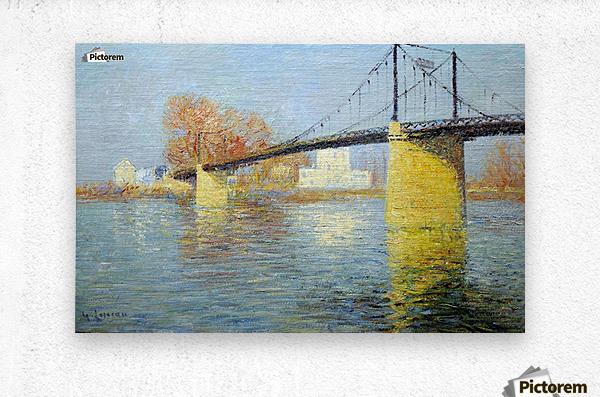 The Banks of the Seine, Triel  Metal print