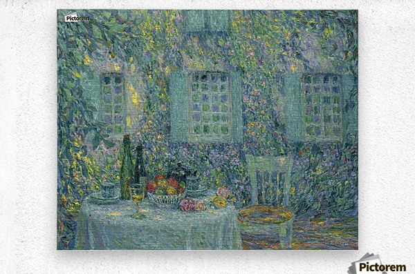 The Table. The Sun on the Leaves, Gerberoy  Metal print