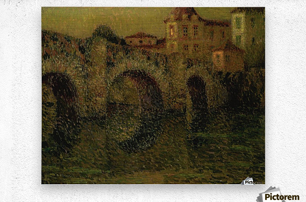 The Bridge at Twilight, Dinan  Metal print