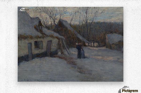 Snowy Landscape, Etaples  Metal print