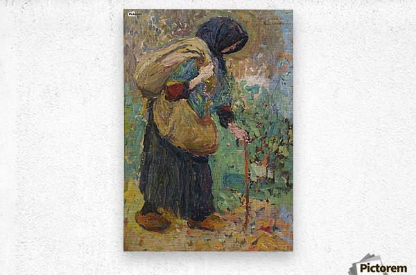 Old Peasant Woman  Metal print