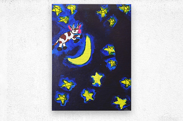 Cow Jumped over the Moon. Dominic H  Metal print
