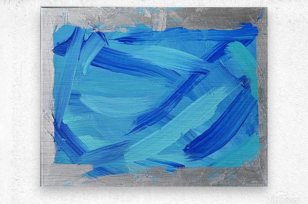 Blue. Walker W.  Metal print