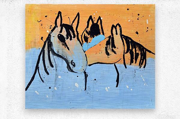 Horses.Davey K.  Metal print