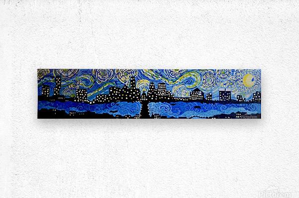 Austin Starry Night. Tala S.  Metal print