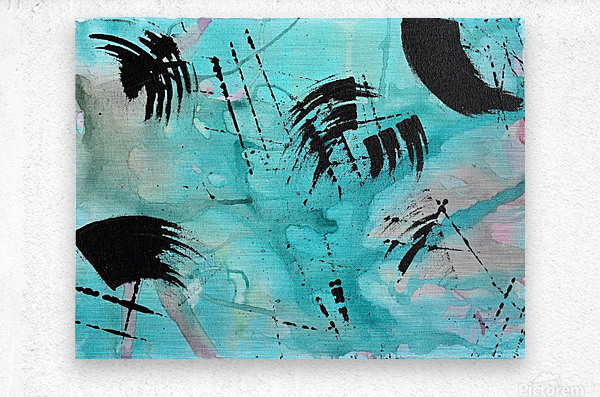 Abstract Watercolor. Geoffory E  Metal print