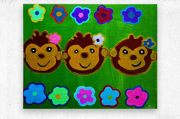 Chain of Monkey.Ali H  Metal print