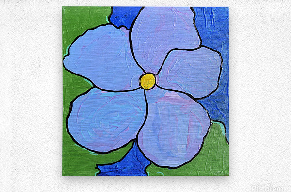 Purple Flower. Jessica A  Metal print