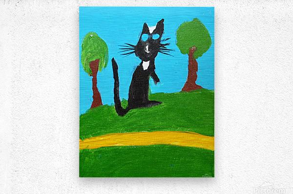Meow. Susan S  Metal print