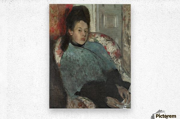 Portrait of Elena Carafa  Metal print