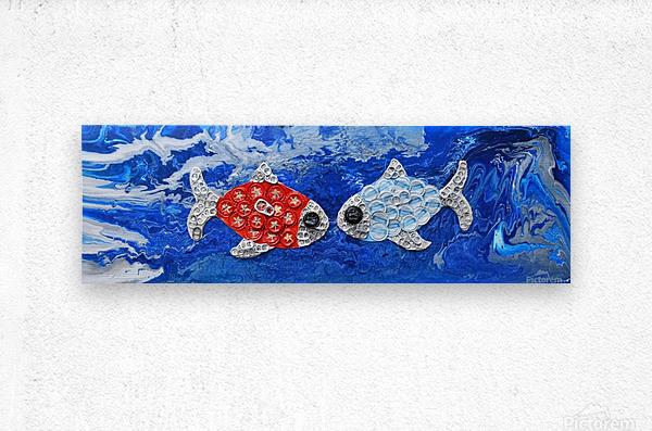 Fishing in Love. Lindsey D  Metal print