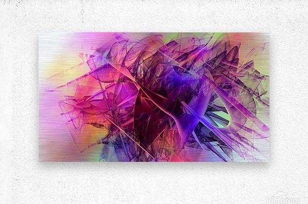 COLORED GLASS  Metal print
