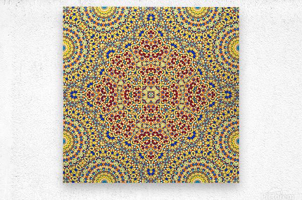 Mandala XI  Metal print