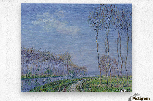 Trees on the Bank of the River  Metal print