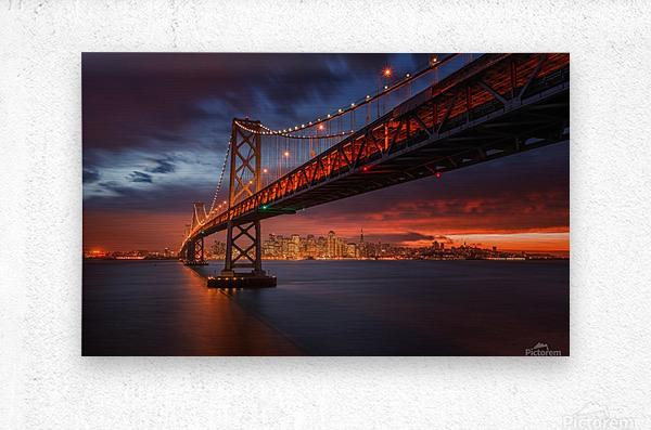 Fire over San Francisco  Metal print