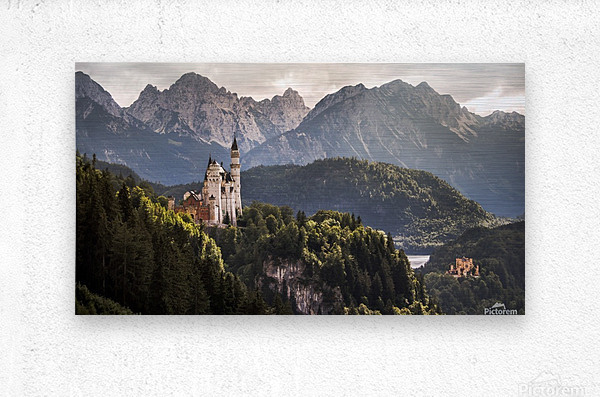 The Two Castles  Metal print