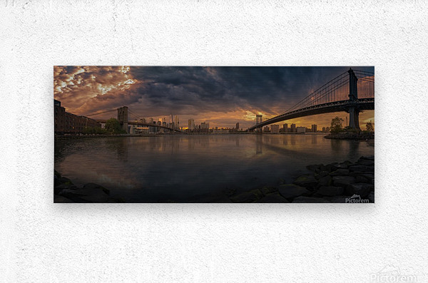 Between bridges  Metal print