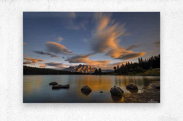 Two Jack Lake Sunset  Metal print