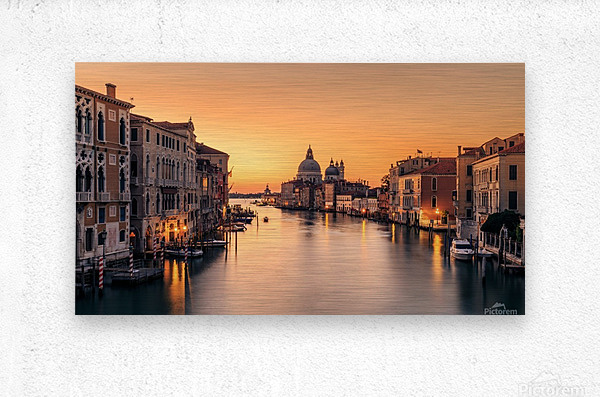 Dawn on Venice  Metal print