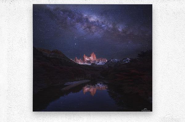 Patagonia Autumn Night  Metal print