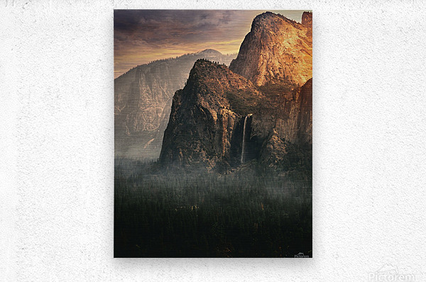 Bridalveil fall, Yosemite  Metal print