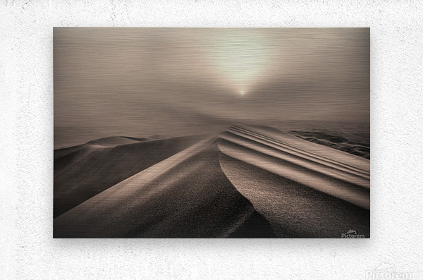 The perfect sandstorm  Metal print