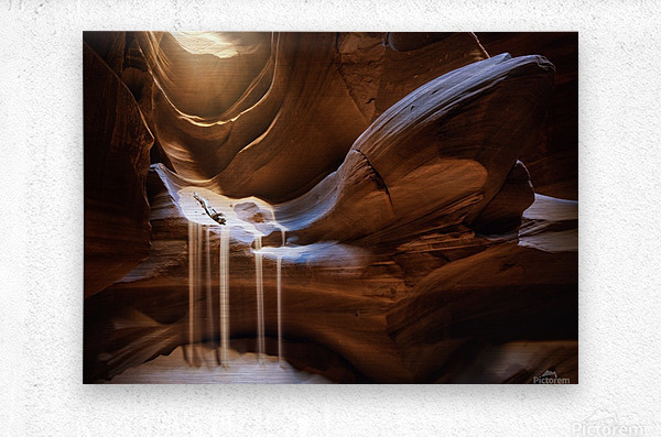 Antelope Waterfall  Metal print